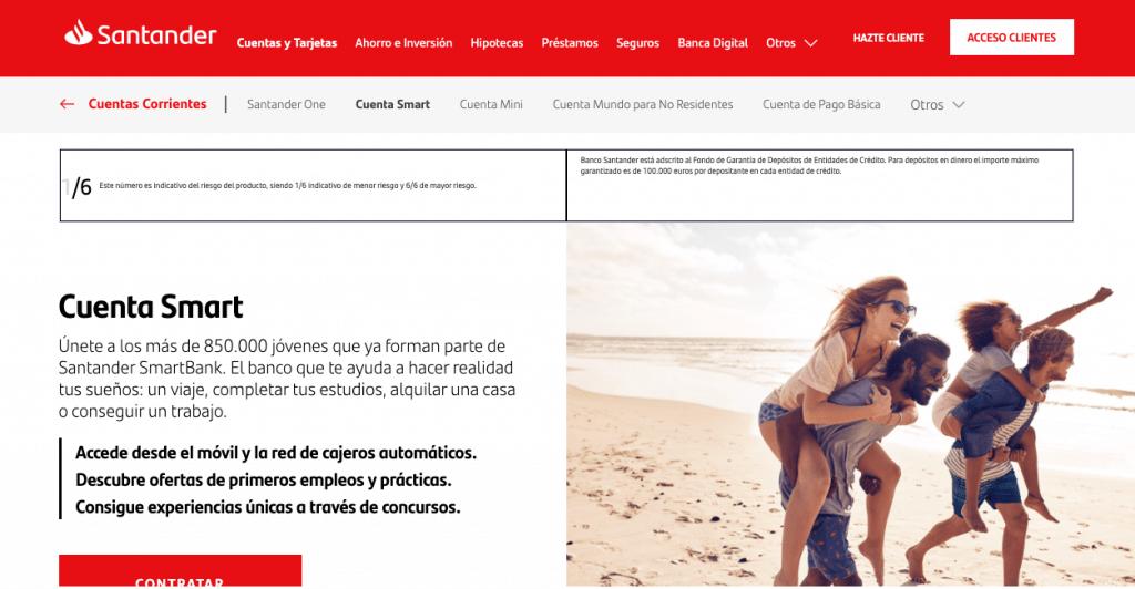 opiniones cuenta smart: abrir cuenta smart Santander