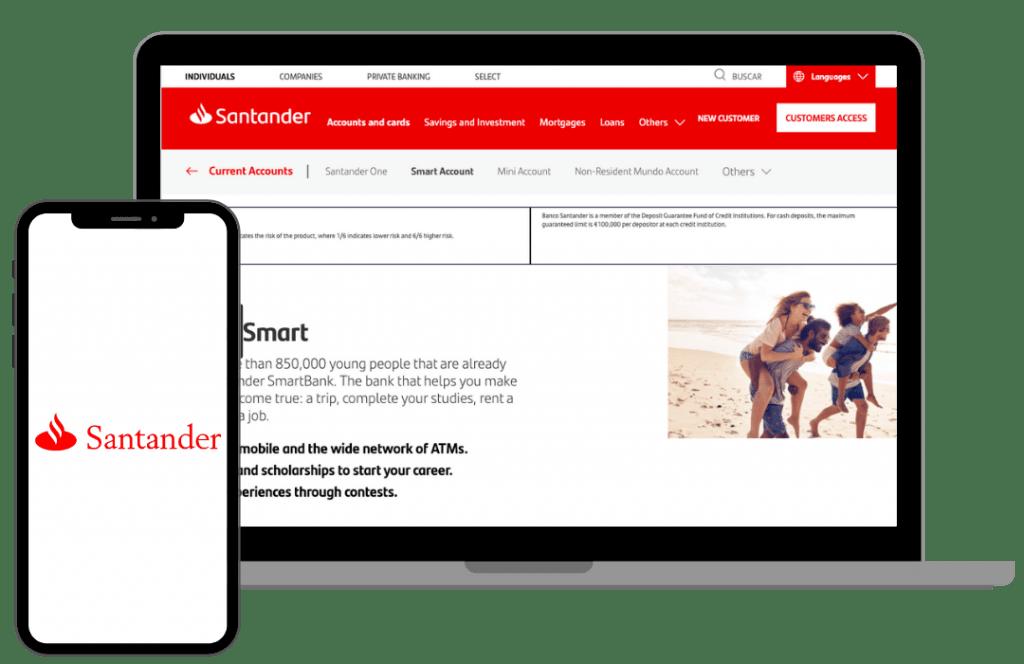 la cuenta smart del santander es una de las mejores cuentas online sin comisiones