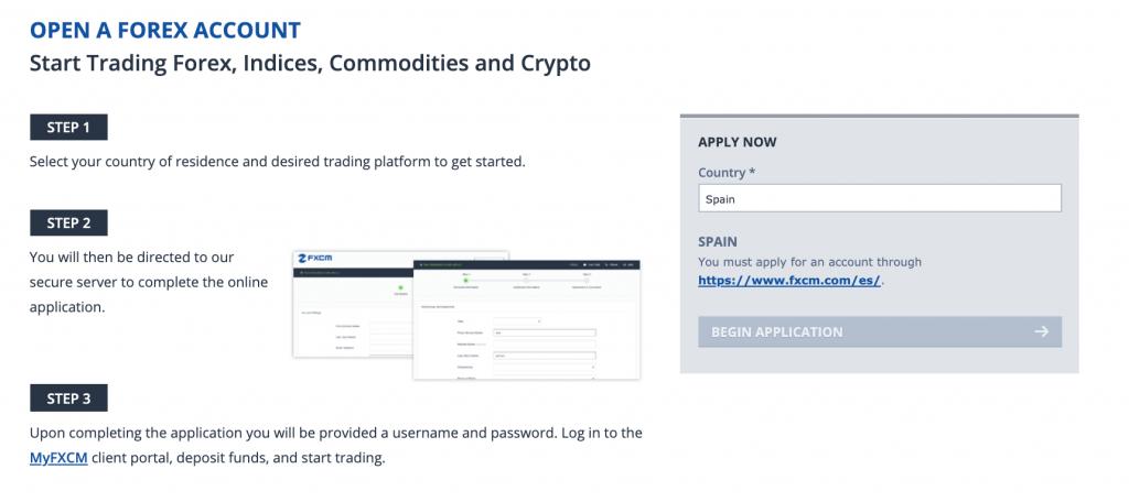 fxcm opiniones: abrir una cuenta en este broker online